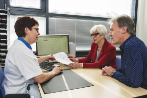gesprek met verpleegkundige